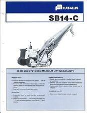 Equipment Brochure - Fiat-Allis - SB14-C Side Boom Crane Hoist - c1978  (E4115)