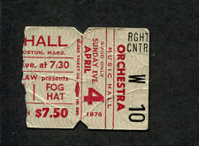 1976 Johnny Winter Foghat Concert Ticket Stub Boston Mean Town Blues Slow Ride