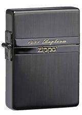 Zippo 1935 Replica Mirror Line Gold Tank Black Nickel Etching Japan Limited F/S