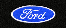 1964 -1968 Mustang Black Carpet Floor Mats 4PC w/Ford Oval Script Logo on Fronts