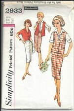 New ListingSimplicity 2933, Vintage Sewing Pattern Slenderette - Misses' and Women's Blouse