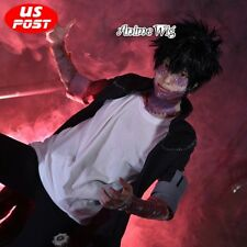 "12"" Basic Anime for My Hero Academy DABI Men Short Black Hair Party Cosplay Wig"