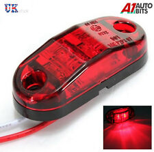 10 PCS RED 24V 2 LED SIDE TAIL REAR MARKER LAMP LIGHTS TRUCK LORRY BUS E-MARKED