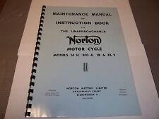 NORTON BIG 4 MODEL 18 ES2 16H 1947-54 MAINTAINANCE & INSTRUCTION BOOK NOW05