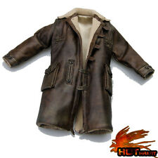 █ Custom Bane 1/6 Leather Jacket for Hottoys Tom Hardy Head Sculpt Muscular Body
