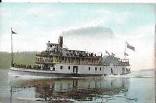 bound for shadowy st joe river,idaho paddlewheel boat postcard