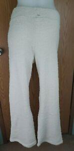 Victorias Secret PINK Cozy Sleep Pants White Soft Womens Size Medium Pajama NEW