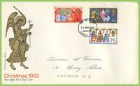G.B. 1969 Christmas set on Post Office First Day Cover, Bethlehem