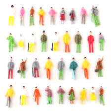 100pcs 1 75 Plastic Painted Layout Model Train Street People Figure OO Scale