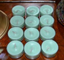 Partylite 1 Dozen Lemon Melon Mint Tealights New Supply!