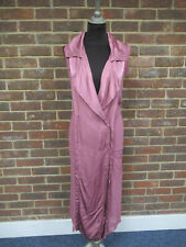 Ghost Dusted Rose Sleeveless Trench Dress Size: 16 BNWT