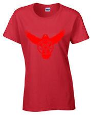 Crow Pentagrama Camiseta Mujer S-2XL Metal Rock Gótico Cuervo Satánico de Mujer
