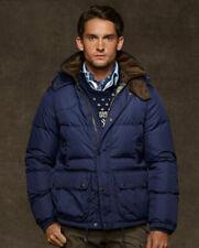 Polo Ralph Lauren Mens New Genuine Dixon Down Jacket Coat Navy Brown XXL