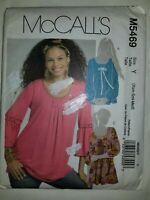 Tunic Top Shirt McCalls M5469 Sewing Pattern UC FF XS S M Pullover Womens New