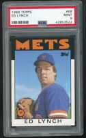 1986 Topps #68 Ed Lynch New York Mets PSA 9 MINT SET BREAK!