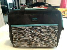 Thermos Insulated Lunch Bag Brown / Blue..NWOT