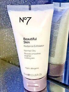 No7 Beautiful Skin Radiance Exfoliator Normal / Dry 75ml New & Sealed