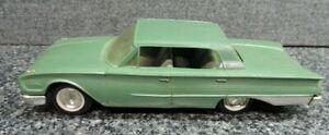 Vintage 1960 Ford Galaxy Promo Car Friction Olive Silver Trim 4 Door Hardtop