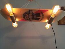 pabst blue ribbon beer light up wooden skateboard sign bar pool table pbr
