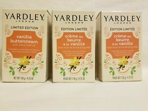 (3) Yardley London Vanilla Buttercream Clove - Limited Edition 4.25oz-bar soaps