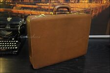 GUCCI Italy Brown Leather Combination Lock Hardcase Hard Case Briefcase Bag Mens