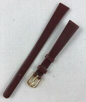 Kreisler Genuine Calfskin 11mm Non-Stitched Wine Red Leather Watch Band W132