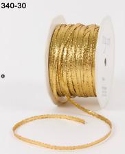 "1/8"" Solid Metallic Ribbon - May Arts - 340-30 - Gold Metallic - 5 Yds."