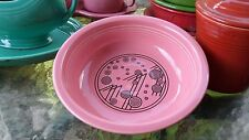 champagne ROSE PINK 19oz. soup/cereal bowl FIESTA 1st MEGA CHINA exclusive