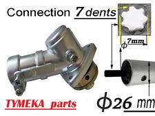 debroussailleuse renvoi d angle adaptable   tube 26 mm fixation étoile 7 dents