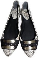 Brian Atwood Aisha Snake Print Flat Ballet Shoe Ballerina 10 / 40