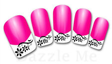 3D Nail Art Decals Transfer Stickers French Tip Design Flowers (3D846)
