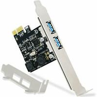FebSmart 2 Ports USB 3.0 Super Fast 5Gbps PCI Express (PCIe) Expansion Card for
