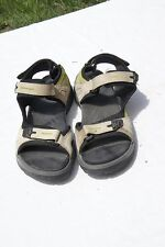 ECCO sandals EU 42 US 11 tan w/ green water hiking ankle strap womens yucatan