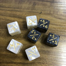 10pcs For Magic The Gathering Game Counting Counters +1/+1&-1/-1 Dice D6 Toy US