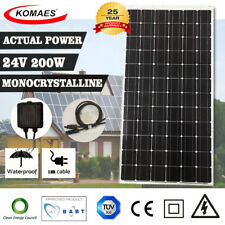 24v 200w Komaes Solar Panel House Caravan Camping Power Mono Charging Kit