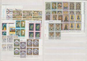 Vatikan Jahrgang 1974, komplette postfrische 4er Block Sammlung **