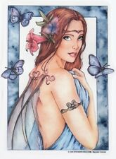 Blue Fae Faery Wiccan Pagan Goddess FAIRY Marjolein Gulinski STICKER/DECAL