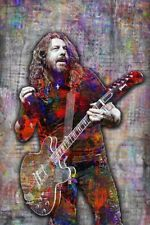 Dave Grohl Of The Foo Fighters 12x18in Poster, Pop Art Dave Grohl Free Shipping