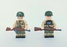 2 minifigures ww2 US 2nd ranger soldier normandy compatibile lego ww2 brick wwII