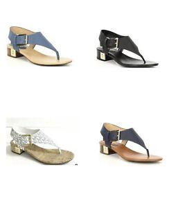 Women MK Michael Kors London Thong Buckle Up Sandals