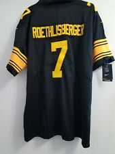 919483ab1cb BEN ROETHLISBERGER Pittsburgh Steelers  7 Color Rush jersey NEW! DMR PATCH!  XL