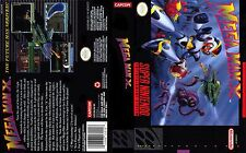 Mega man x 7 Replacement SNES Box Art Case Insert Cover Scan Reproduction