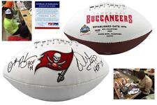 Warren Sapp & Derrick Brooks SIGNED Buccaneers Logo Football - PSA/DNA Autograph