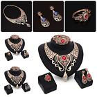 Fashion Alloy Necklace Earrings Bracelet Ring Party Bridal Wedding Jewelry Sets