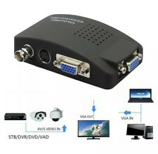 BNC Composite SVIDEO VGA In to PC VGA LCD Out Converter Adapter Box TV Video USA