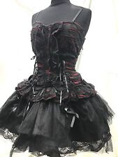 SDL Cosplay Gothic Blk Swan Shredded Dress Black/Red  In Size 10/12