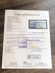 DEREK JETER & TINO MARTINEZ SIGNED AUTOGRAPHED TICKET STUB YANKEES JSA AUTHENTIC