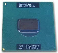 SL7SA Intel Pentium M 740 CPU Processor 1.73 GHZ / 2M / 533 Processor RH80536