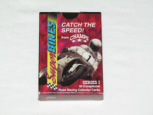 1993 CHAMPS SUPER BIKES Complete Trading Card Set #1-50 IN BOX Motorcycle Racing