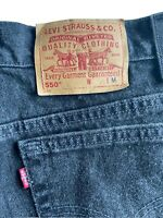 Womens Vintage Size 12 Levis 550 Black Jeans Relaxed Fit Tapered Leg Made In USA